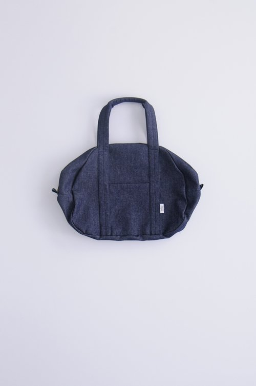 cotton denim boston bag (M)