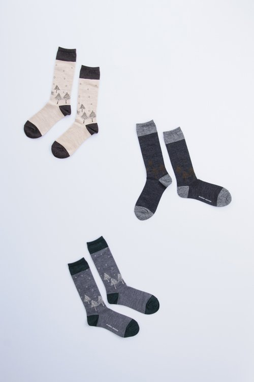 wool 〜初雪〜 middle socks