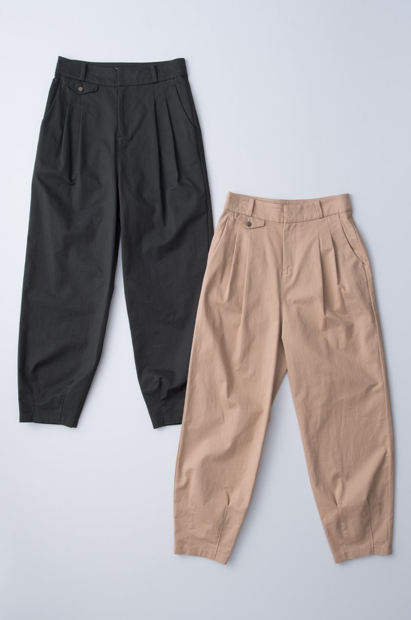 cotton two tuck pants