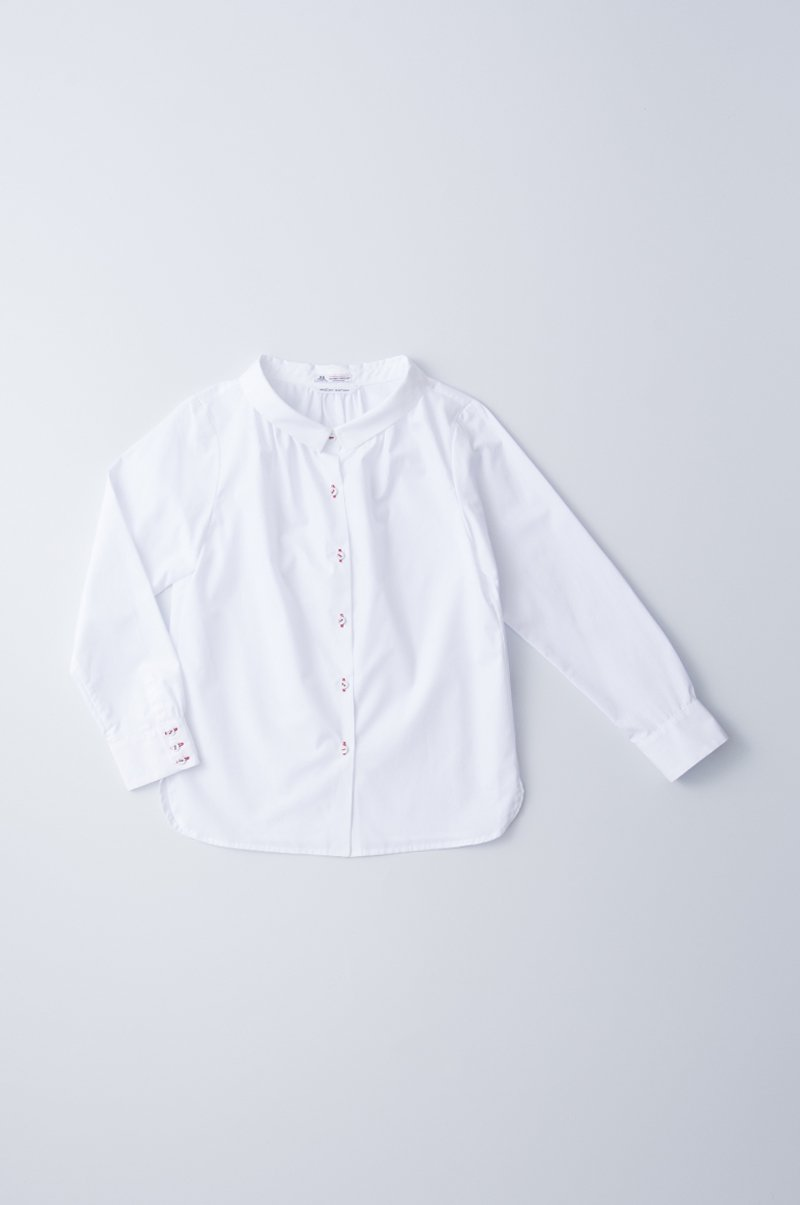 cotton stand off collar blouse