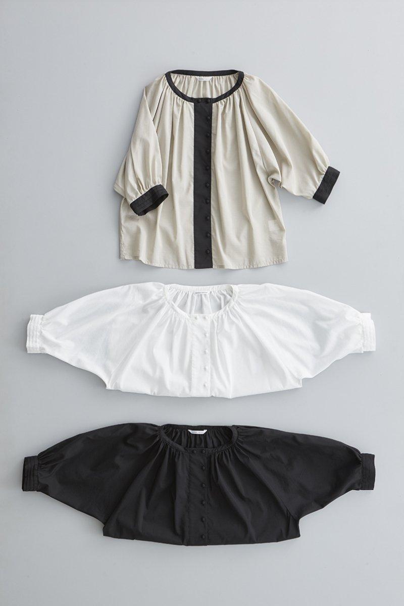 cotton gather smock blouse
