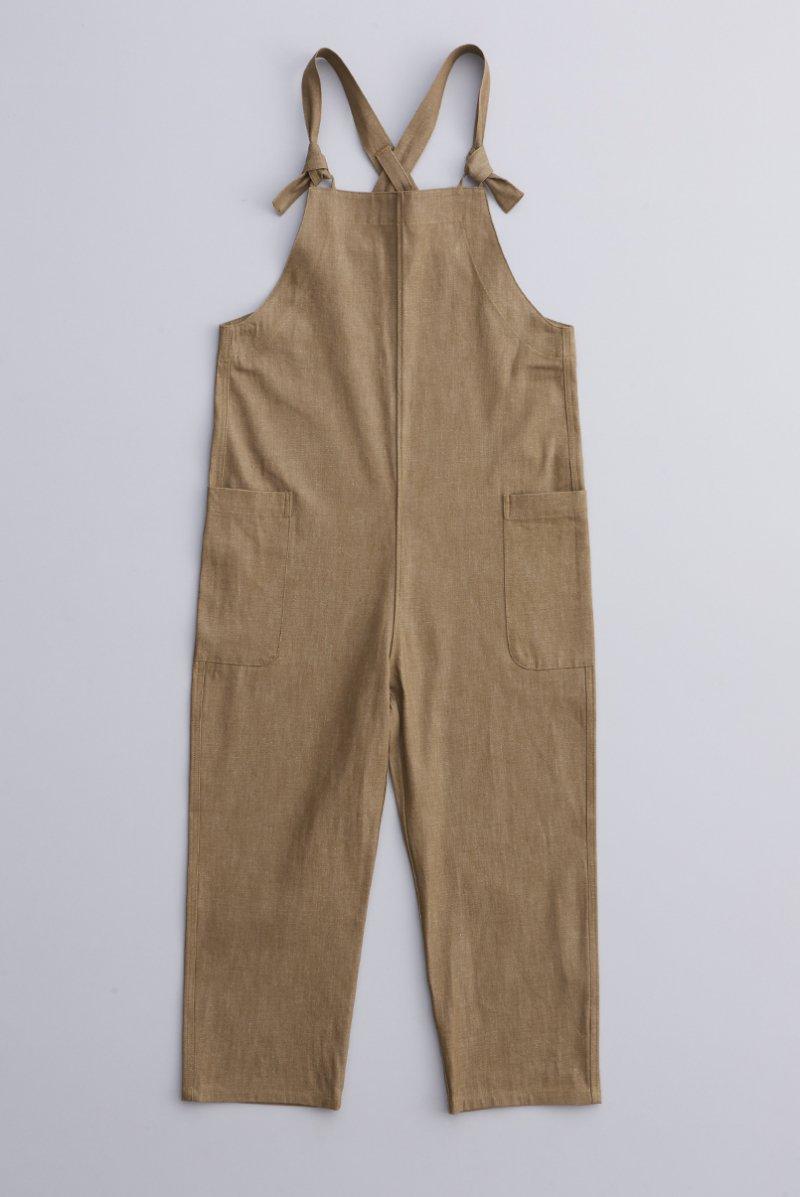 cotton farmers salopette pants / camel
