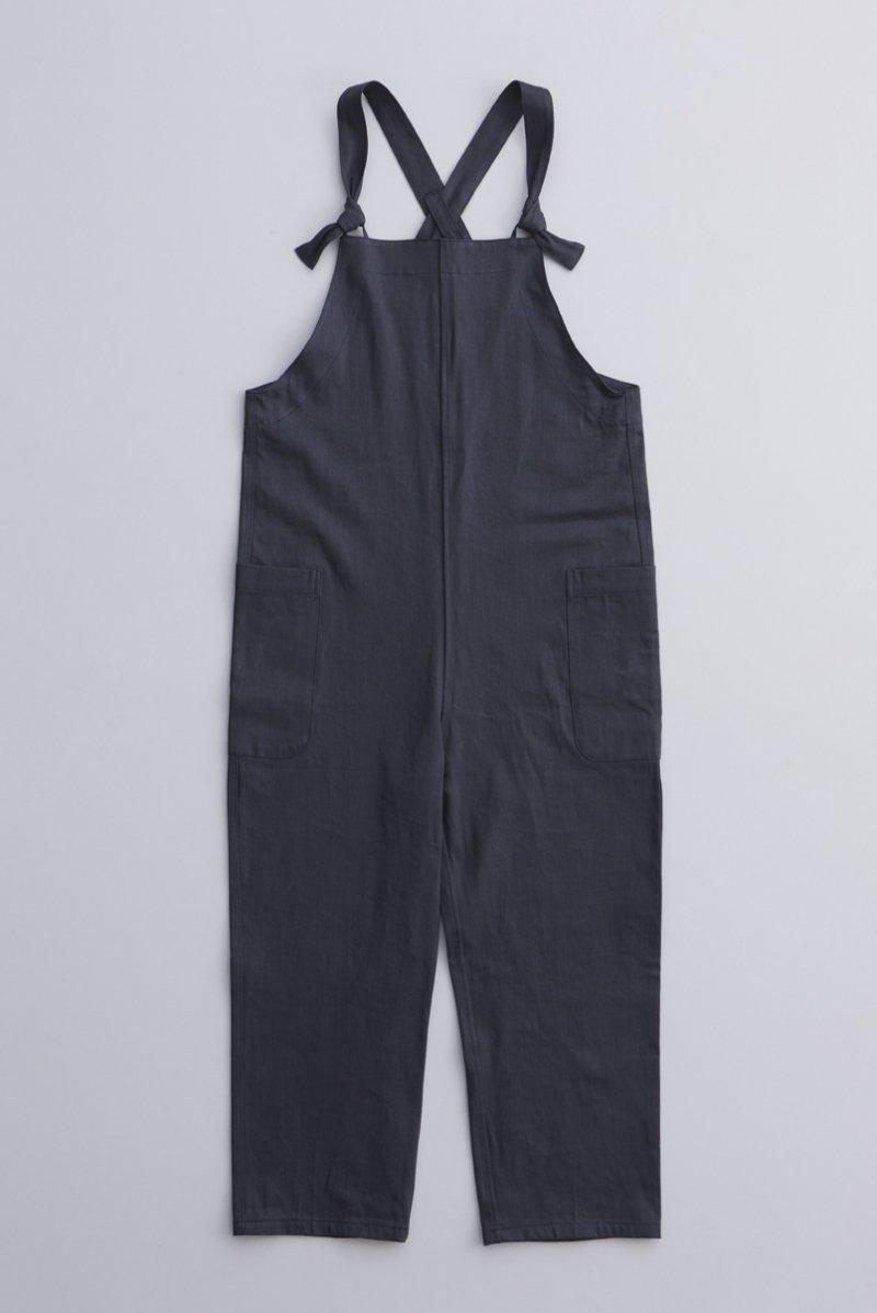 cotton farmers salopette pants / charcoal