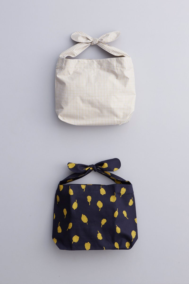 cotton ~pool & chamomile~ shoulder knot bag