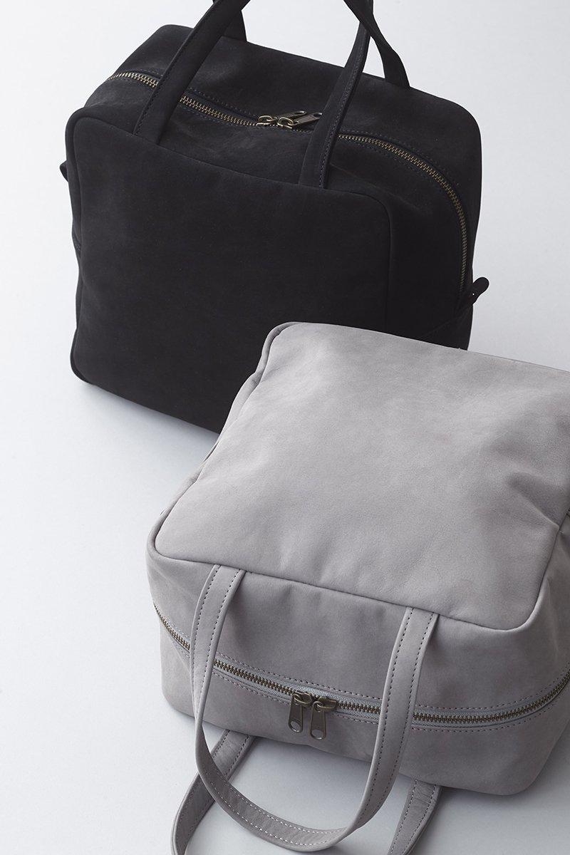 nubuk leather square bag