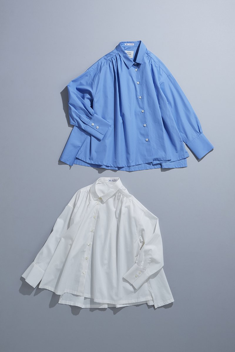 cotton ~THOMAS MASON~ gather blouse