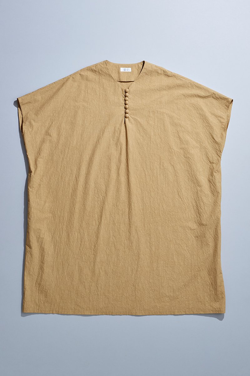 cotton TENT-LINE one-piece / camel