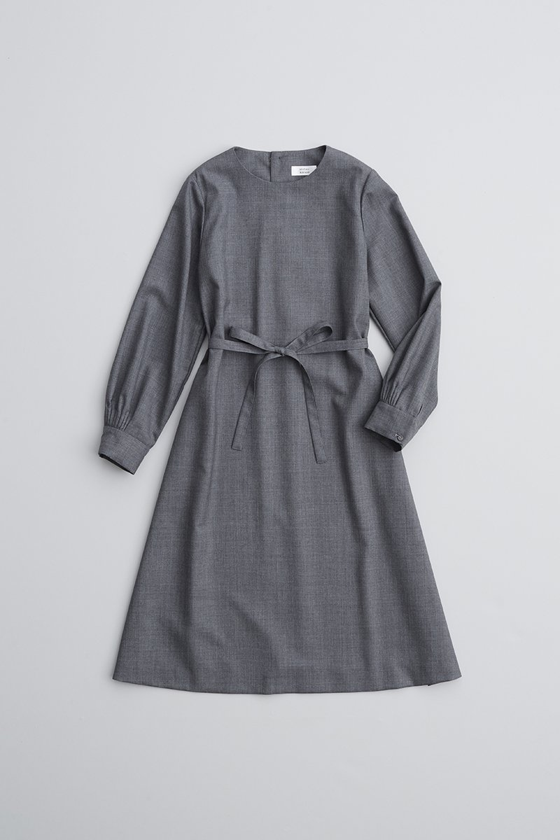 formal A line one-piece dress / gray