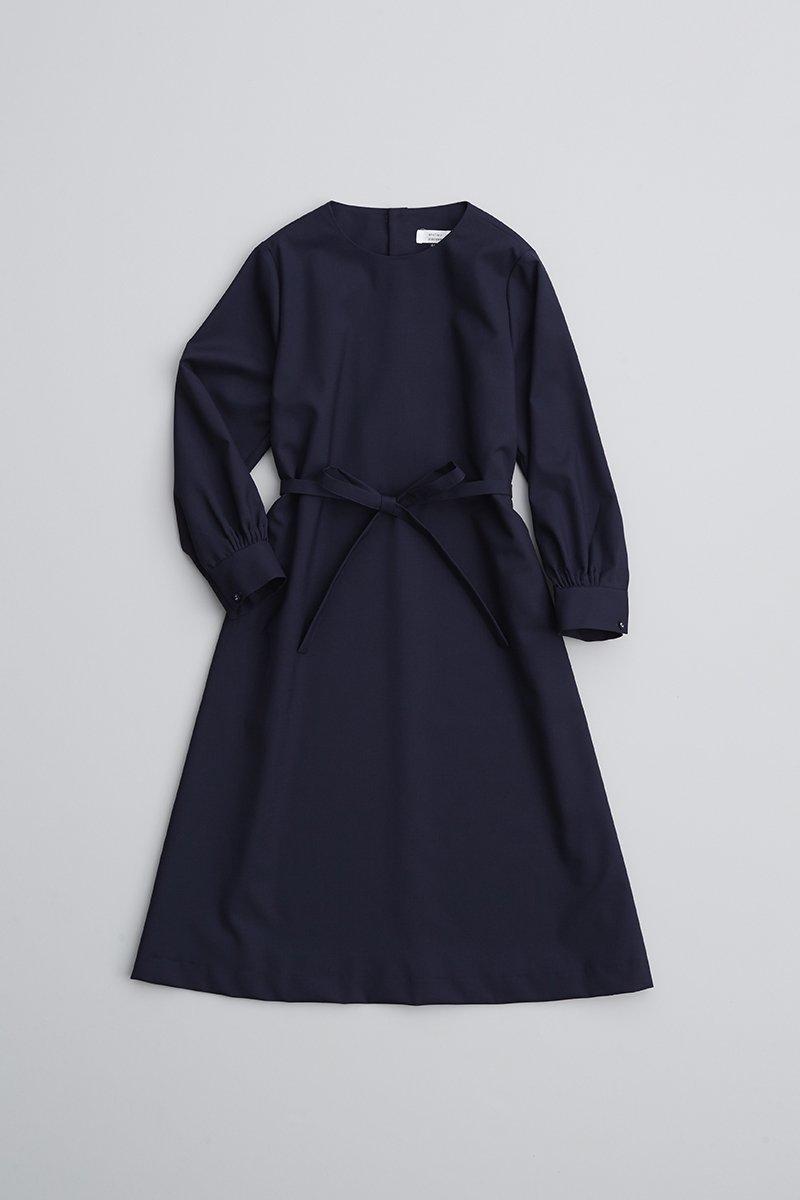 formal A line one-piece dress / navy