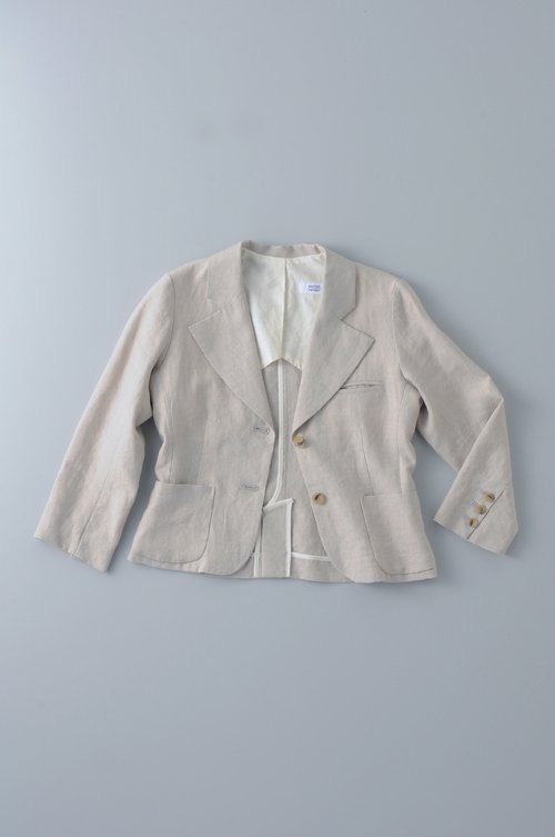 linen tailored jacket / natural flax
