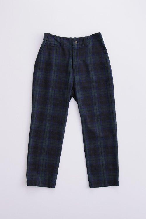 cotton chino pants/ tartan check