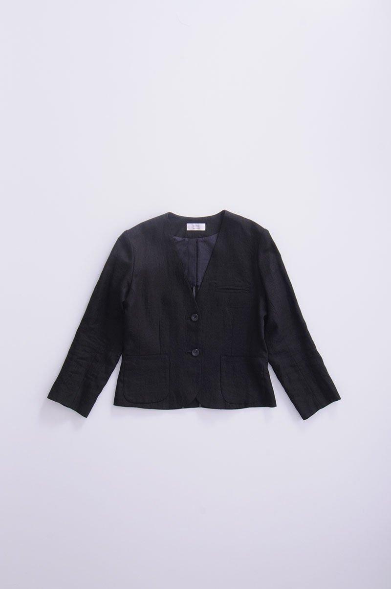 linen jacket / black