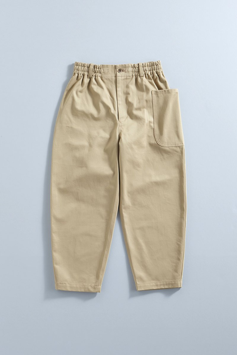 cotton chino balloon pants / beige