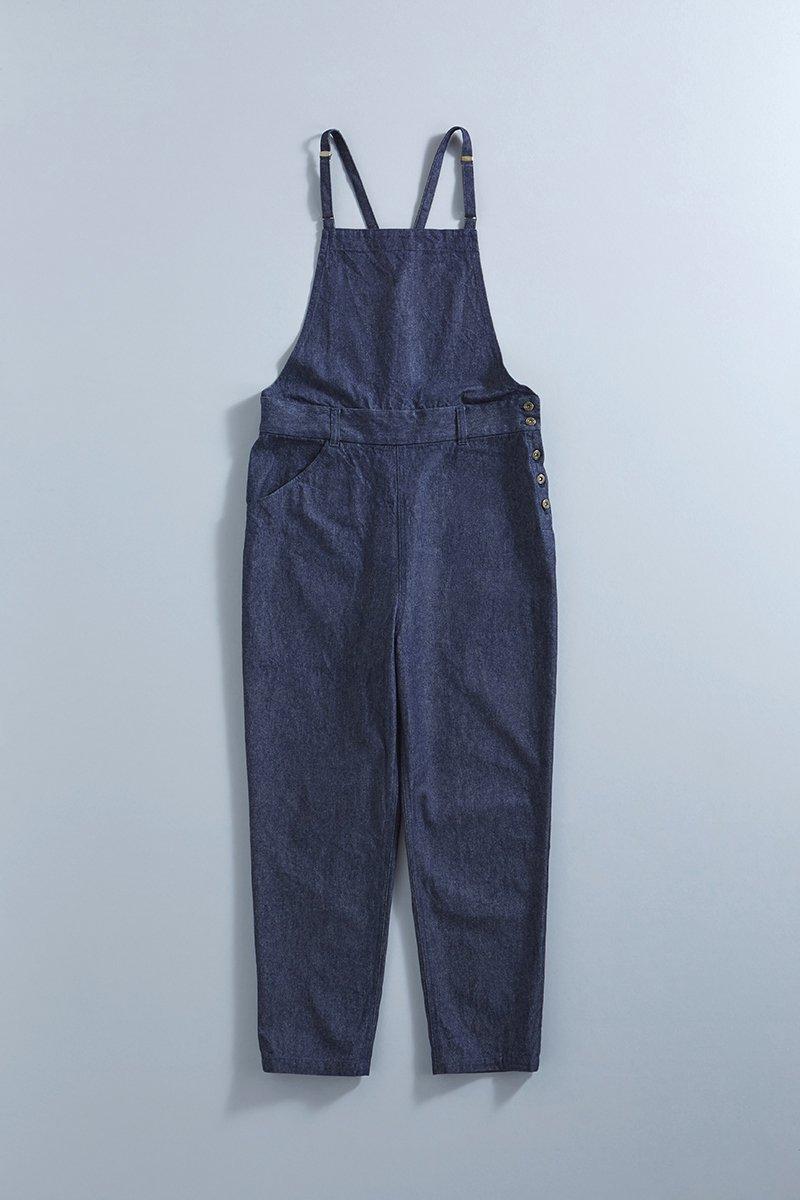 cotton denim salopette pants