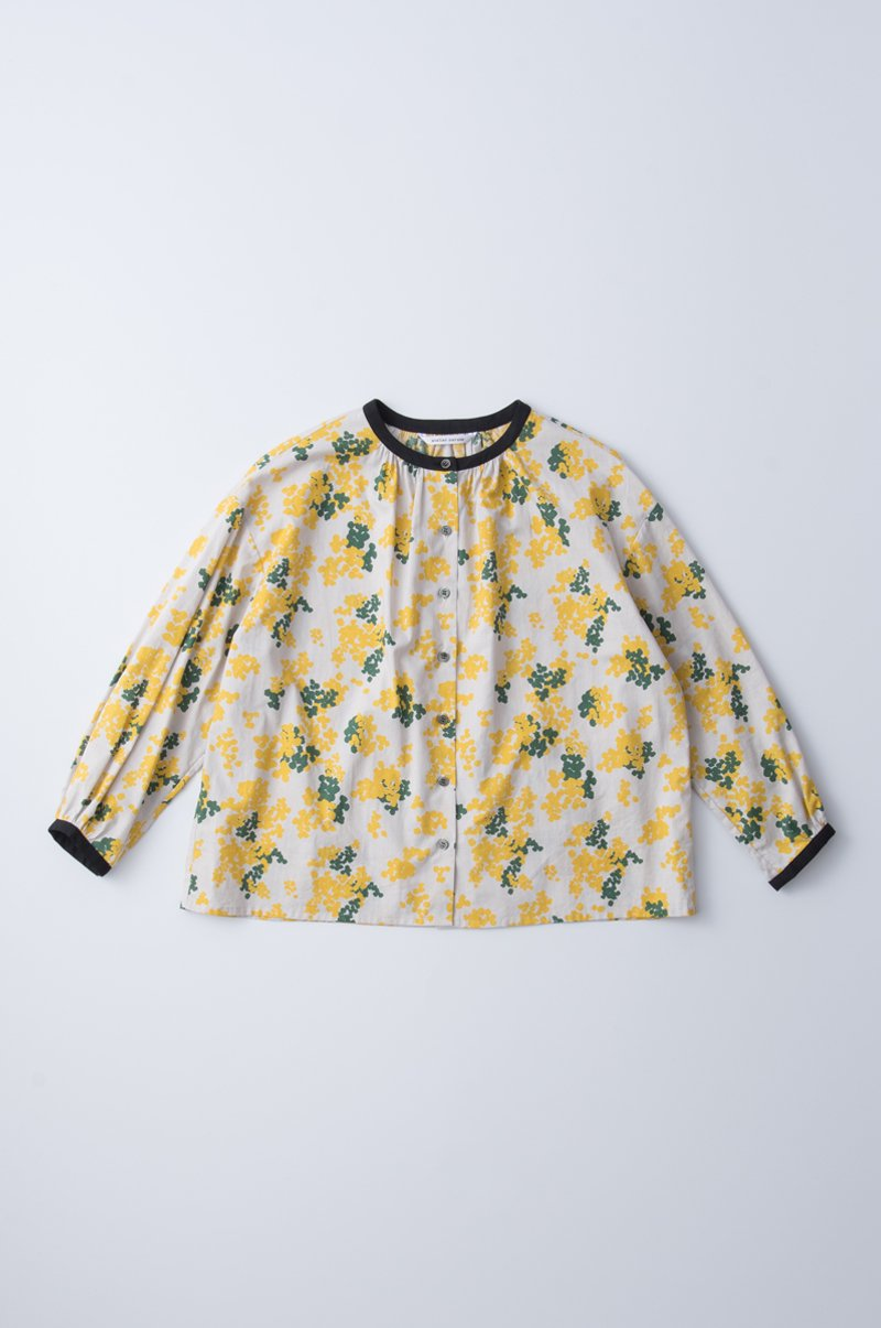 cotton loan ~komore-bi~ balloon pull over blouse / yellow