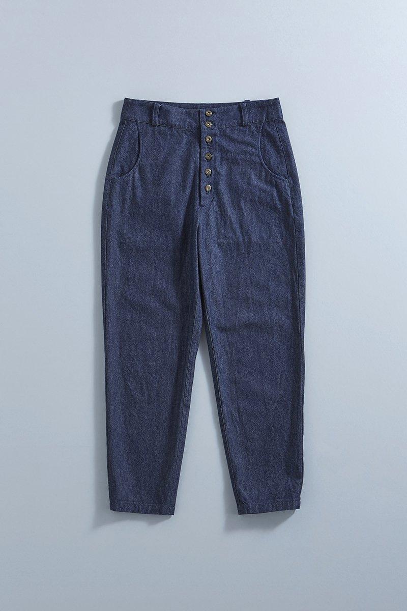cotton denim peck top pants