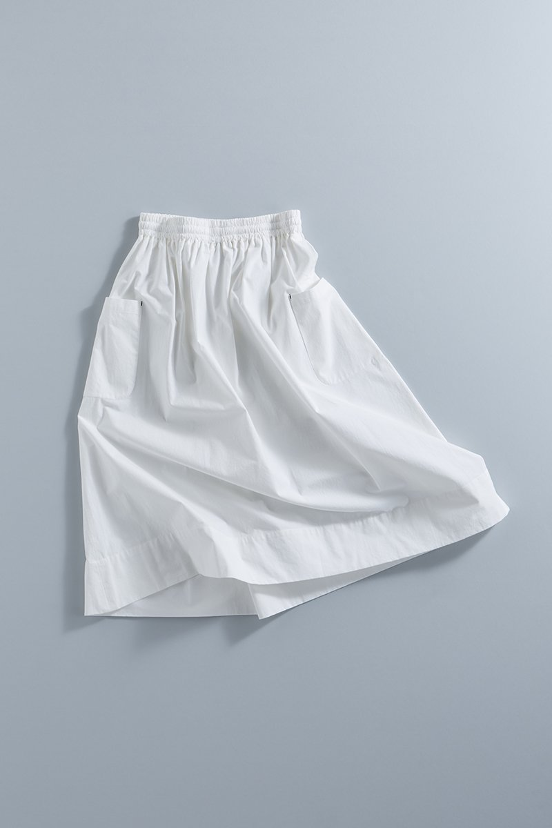 cotton patch pocket skirt / off white