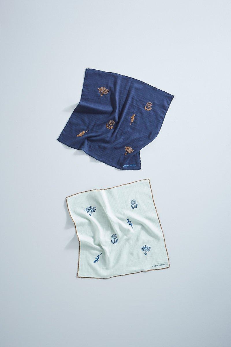 handkerchief ~monotone flower~