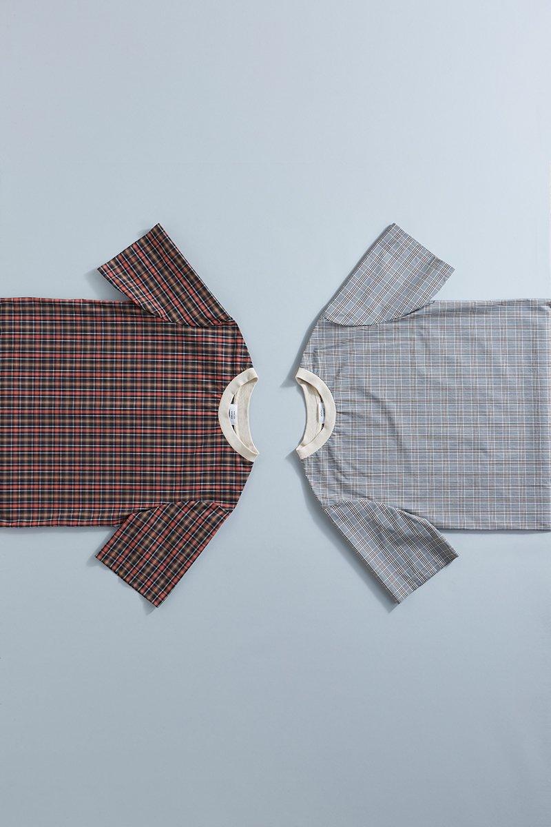 cotton neck rib T-shirt