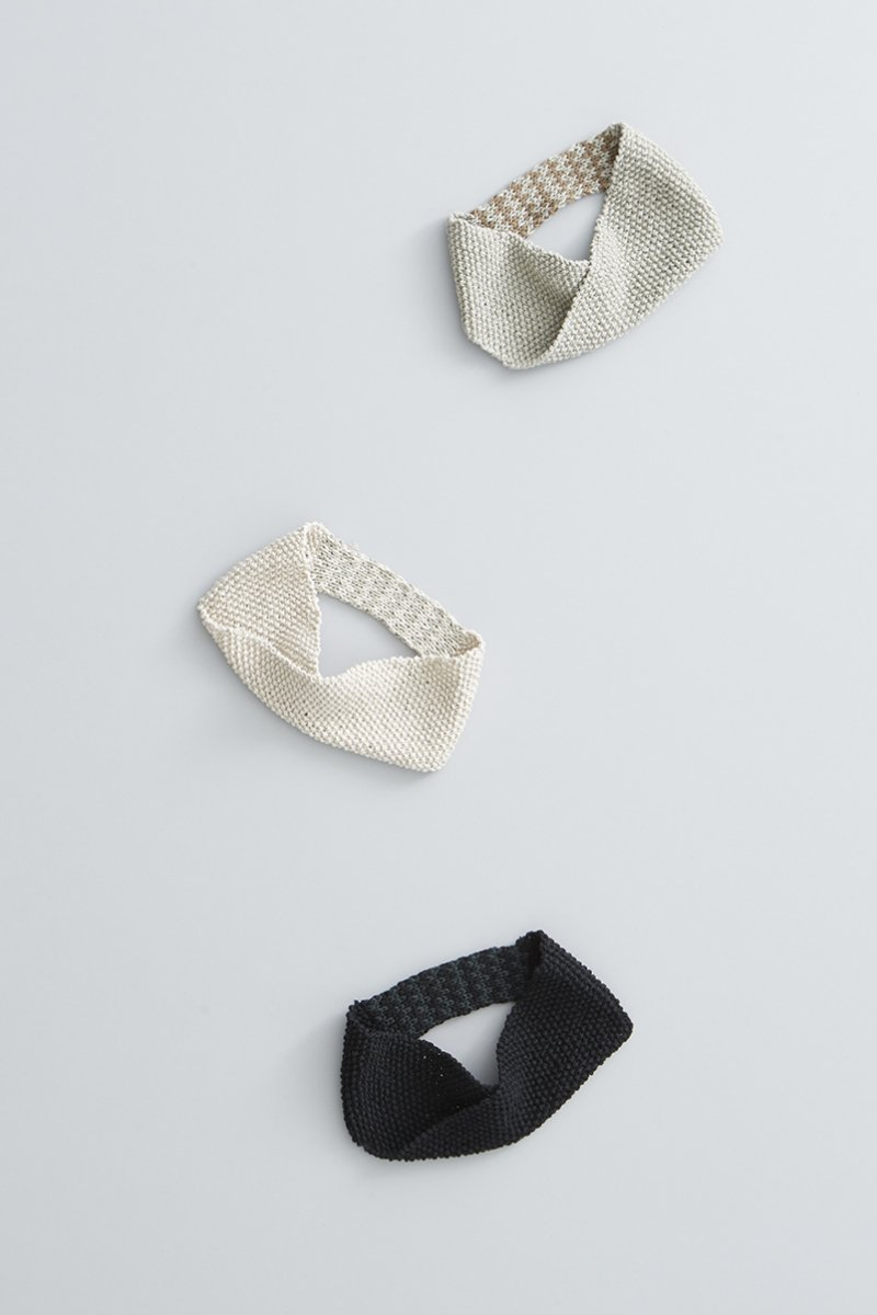 cotton linen ~zig-zag~ knit headband