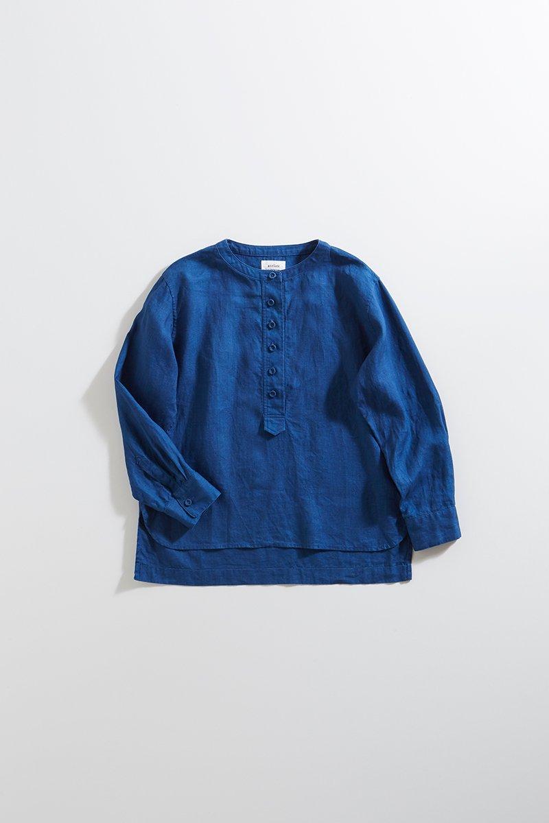 linen indigo smock