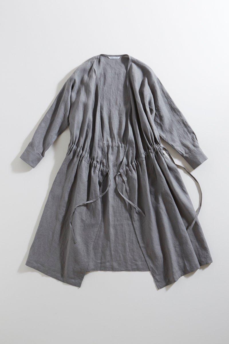 linen cache-coeur one-piece / gray