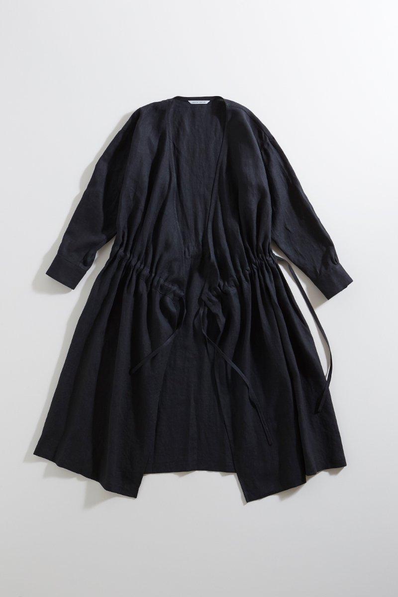 linen cache-coeur one-piece / black