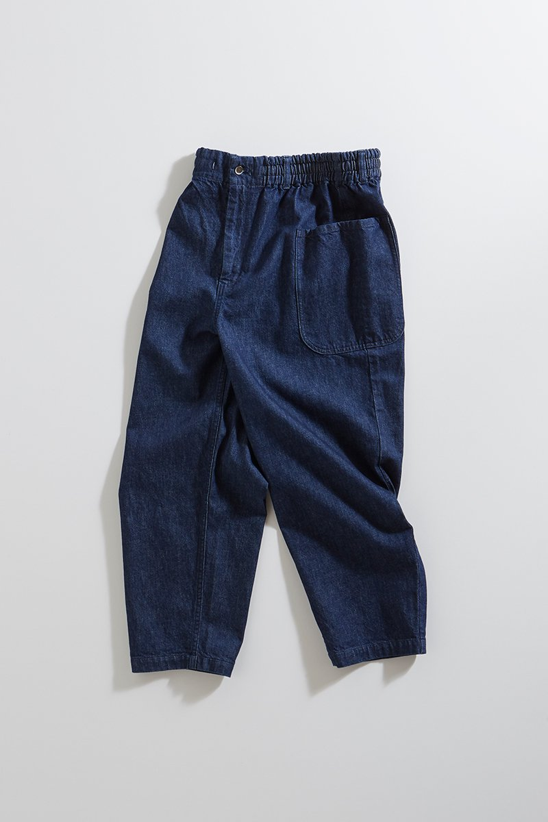 cotton denim balloon pants