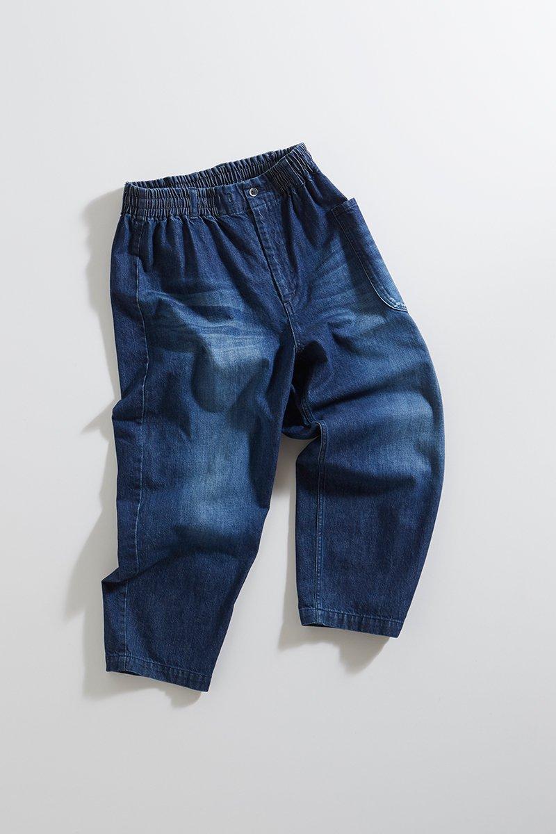 cotton denim balloon pants / ダメージ加工ver.
