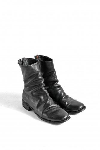 GUIDI 788 ホースレザー シングルソール バックジップ ブーツ 42