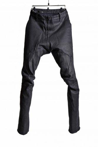 17AW 美品 LEON EMANUEL BLANCK FORCED コーティングパンツ 44 黒 CL-TWILL  FP-FLP-01