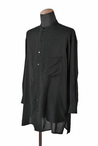 18AW Yohji Yamamoto +NOIR スタンドカラーシャツ 2 BLK