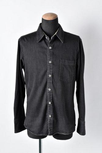 14FW BACK BONE ストレッチ シャンブレーシャツ XL 黒 バックボーン