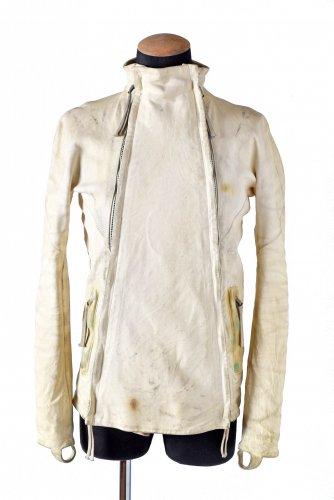 美品 国内未入荷 17AW boris bidjan sabbert J4 製品染め カンガルー レザー ジャケット S  DASTY WHITE