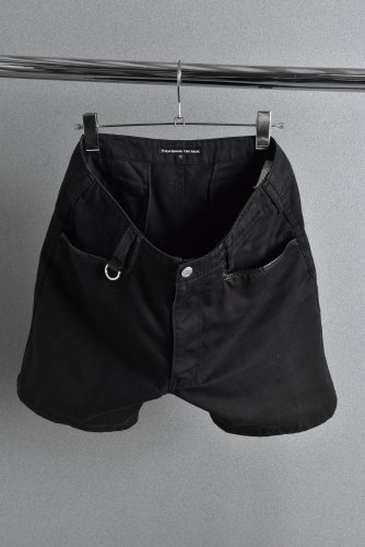 BACK BONE タッドポリード別注 パイソンパイピング ショートパンツ M 黒