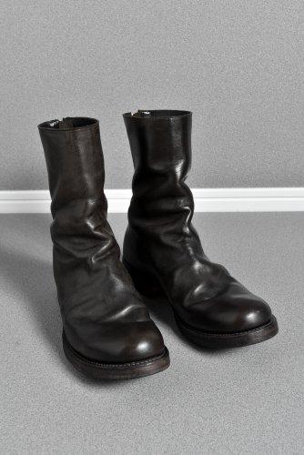 美品 LIEN ホースコードバン ワンピース バックジップブーツ 40 (26cm) 黒 リアン