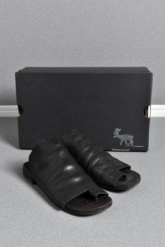 ポルタユ キップレザートング サンダル 5(26-26.5cm) 黒 Portaille