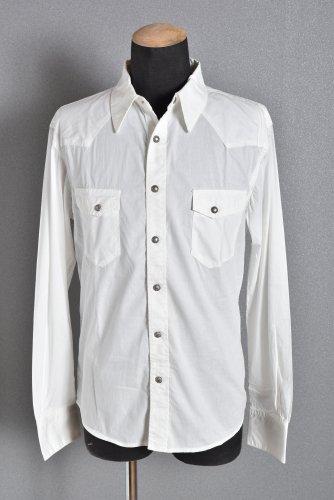 新品 DELAY by Win & Sons ストレッチ シャンブレー ウエスタンシャツ 4 WHITE