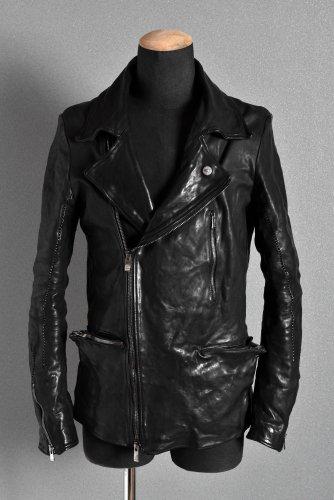 美品 19AW incarnation Horse Leather  Double Breast Jacket S BLACK