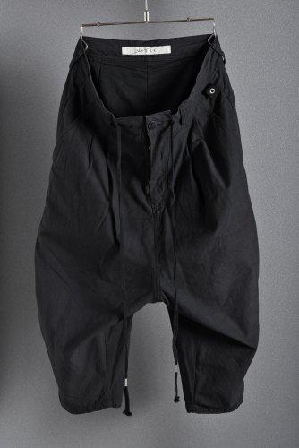 17SS N/07 タイプライター アナトミカル ワイドパンツ BLACK  FREE エヌゼロナナ