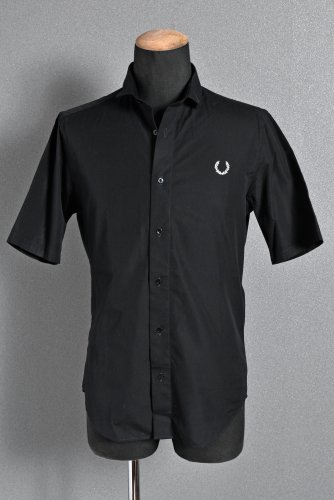 FRED PERRY × RAF SIMONS 半袖シャツ S BLACK