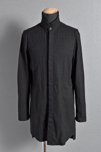 希少 美品 INAISCE スタンドカラー ロング シャツ 2 BLACK インアスカ