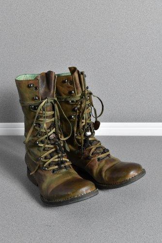 稀少 incarnation カーフレザー ハンティング ブーツ 42 GREEN