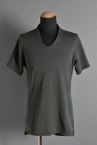美品 18SS エヌゼロナナ Neck Follow Jersey Tops / CORDURA Fabric 48 KHAKI