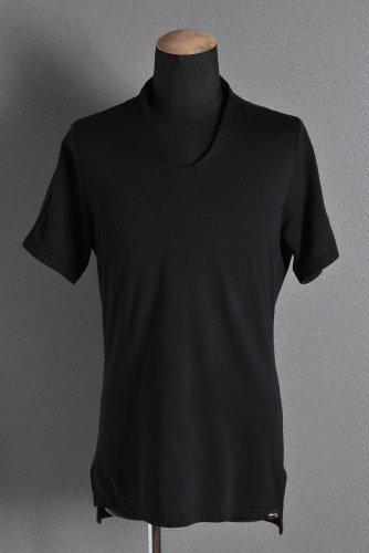 美品 18SS エヌゼロナナ Neck Follow Jersey Tops / CORDURA Fabri 48 BLACK