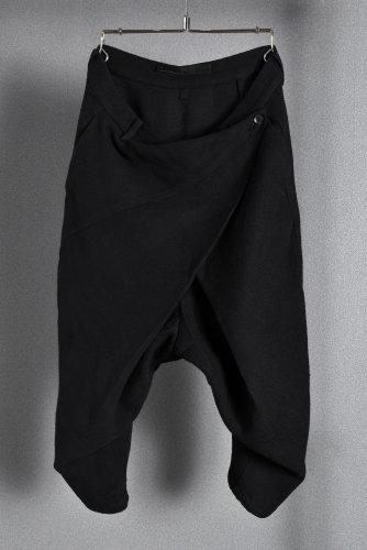 希少 N/07 エヌゼロナナ アムンゼン織 アナトミカル ラップパンツ 44 BLACK