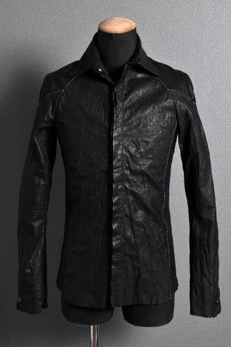 美品 18SS Incarnation LOOM OSAKA別注 カーフレザーシャツ XS BLACK
