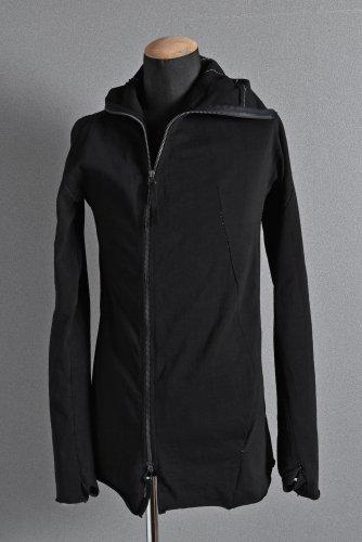 LEON EMANUEL BLANCK DISTORTION HOODY JACKET / JP-HEAVY JURSEY 46 BLACK