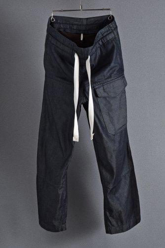 美品 19AW sus-sous supima denim wide trousers MK-1 (INDIGO) 5