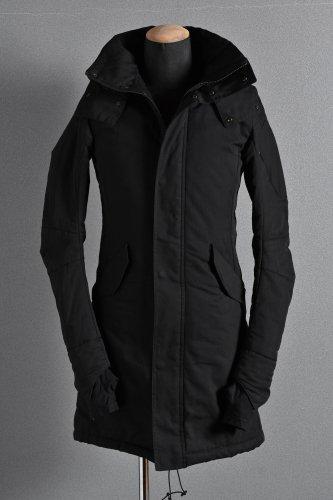 美品 N/07 Supima Cotton 60/2 High Density 3D Mods Coat M-51 44 BLACK エヌゼロナナ